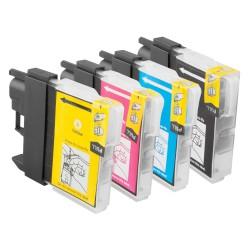 Cartouche Brother LC-980 pack de 4 cartouches - adaptable