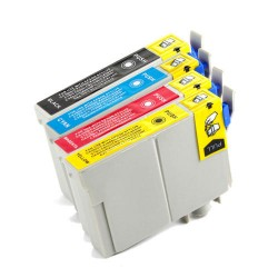 Epson T073 pack de 4 cartouches - adaptable