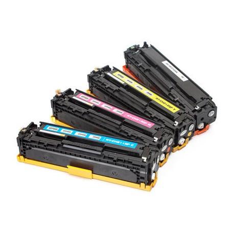 Toner HP CB540/543 CE320/323 CF210/213 pack 4 Couleurs (compatible)