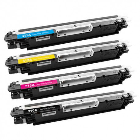 HP CE310A / CRG 729 pack 4 toner (compatible)