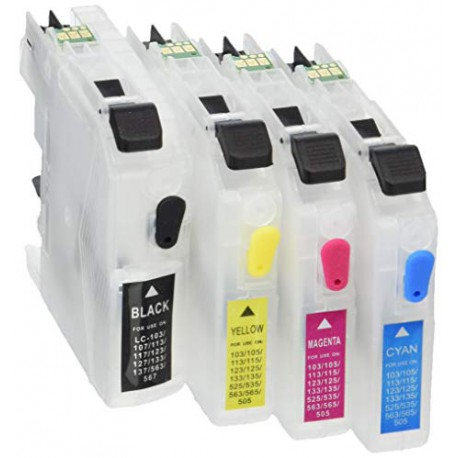 Brother LC-123 rechargeable - pack 4 cartouches