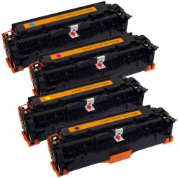 Universelle HP 304A, 305A, Canon 718 pack 4 toner (compatible)