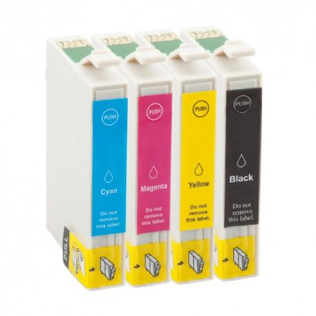 T0715 pack de 4 cartouches - adaptable
